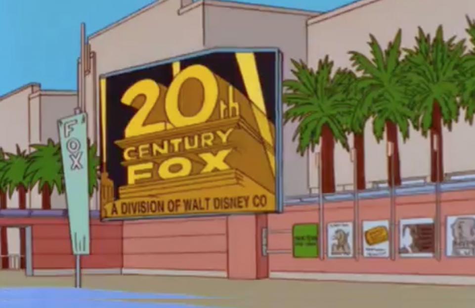 Simpsons Predicts Disney Buying Fox